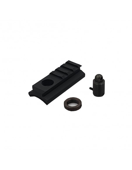 Adapter from SWIVEL system (screw with hole) to WEAVER rail