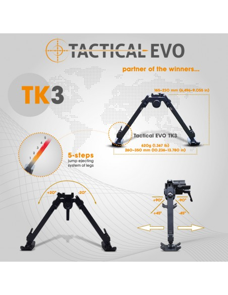 TACTICAL support rail for F-Class F1 bipod