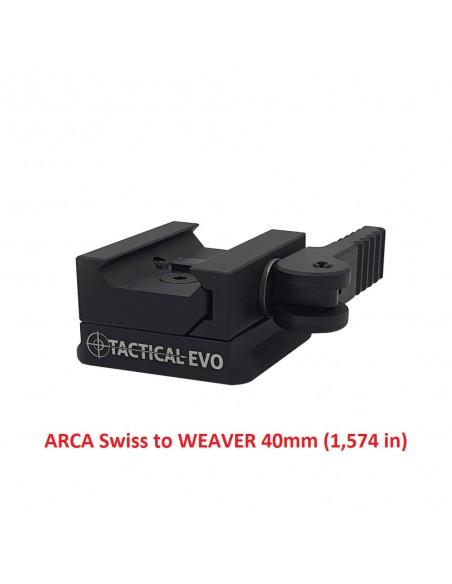 ARCA Swiss na WEAVER (redukce na tripod)